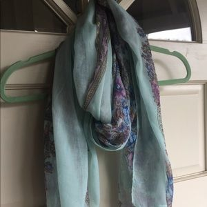 Accessories - Mint and Purple Paisley Scarf